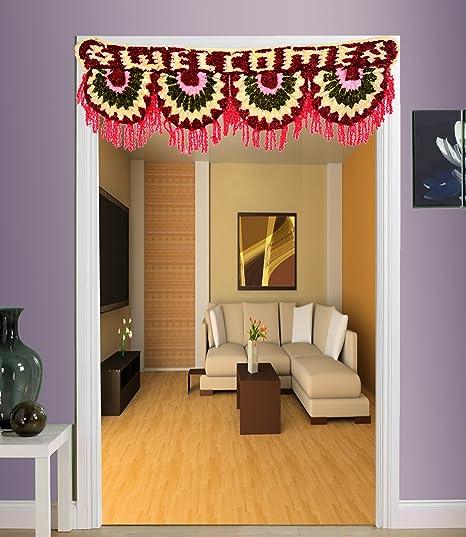 Buy Jaipuri Haat Diwali Decorative Woolen Toran Bandarwal For Home