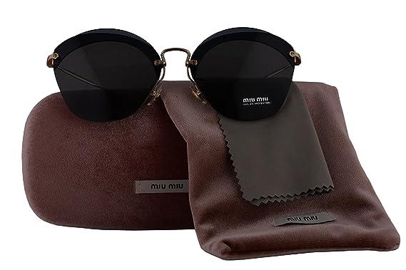 72152dc61be3 Miu Miu Authentic Sunglasses MU53SS Transparent Blue w/Grey Lens VX09K1  SMU53S (63mm): Amazon.co.uk: Clothing