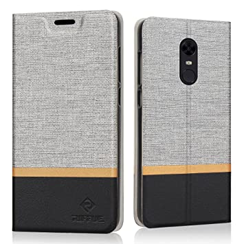 RIFFUE Funda Xiaomi Redmi 5 Plus, Carcasa Delgada Libro de Cuero con Tapa Cartera de Ranura y Billetera Elegante Case Cover para Xiaomi Redmi 5 Plus ...