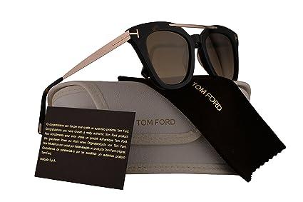 Amazon.com: Tom Ford ft0575 ANNA-02 anteojos de sol café ...