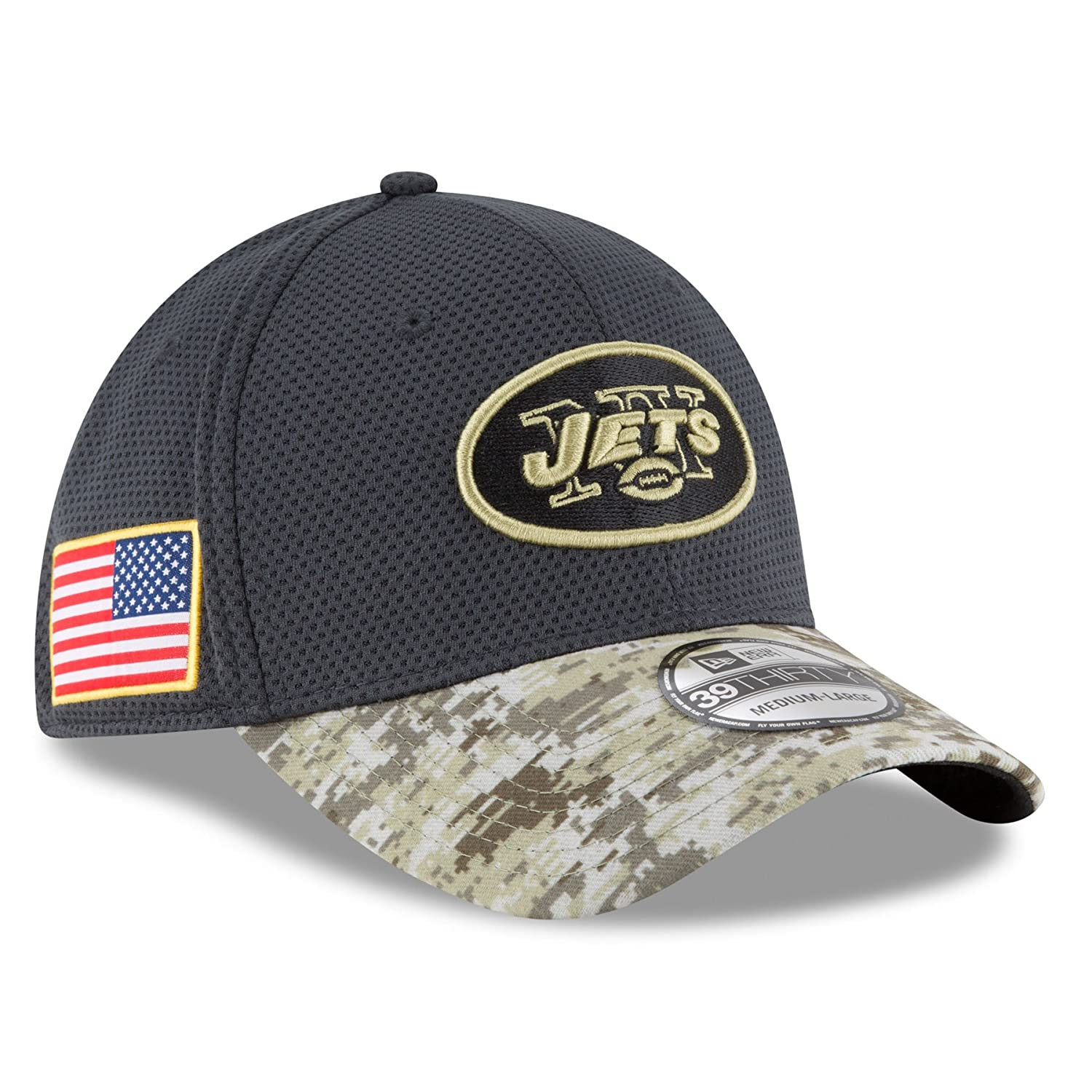 f0946d291d364c New Era Men's NFL New York Jets 16 Salute to Service Sideline Hat at Amazon  Men's Clothing store: