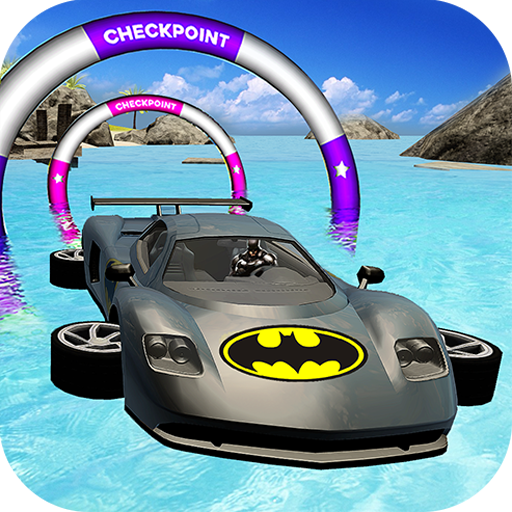 Batman Car Games - Incredible Water Surfing Hero 3D: Adventure Island