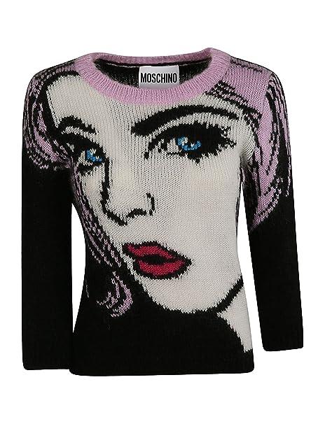 Moschino Maglione Donna A090654021555 Lana Multicolor  Amazon.it ... fa509085796