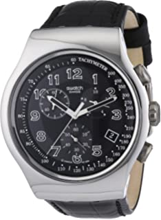 Swatch Irony Chrono Your Turn Black Mens watch #YOS440