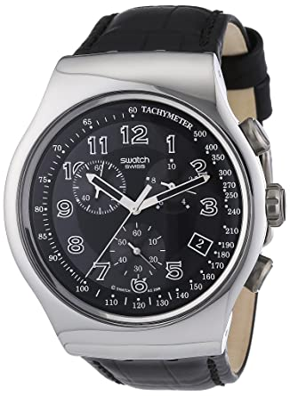 3f730929e8a Amazon.com  Swatch Irony Chrono Your Turn Black Men s watch  YOS440 ...
