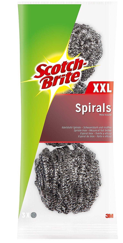 Scotch-Brite ISX3 Edelstahl-Spirale, groß, scheuerstark, 3 Stück ...