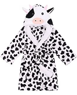 c1e559b94d Verabella Boy s   Girl s Ultra-Plush Soft Hooded Animal Theme Sleepwear  Bathrobe Robe