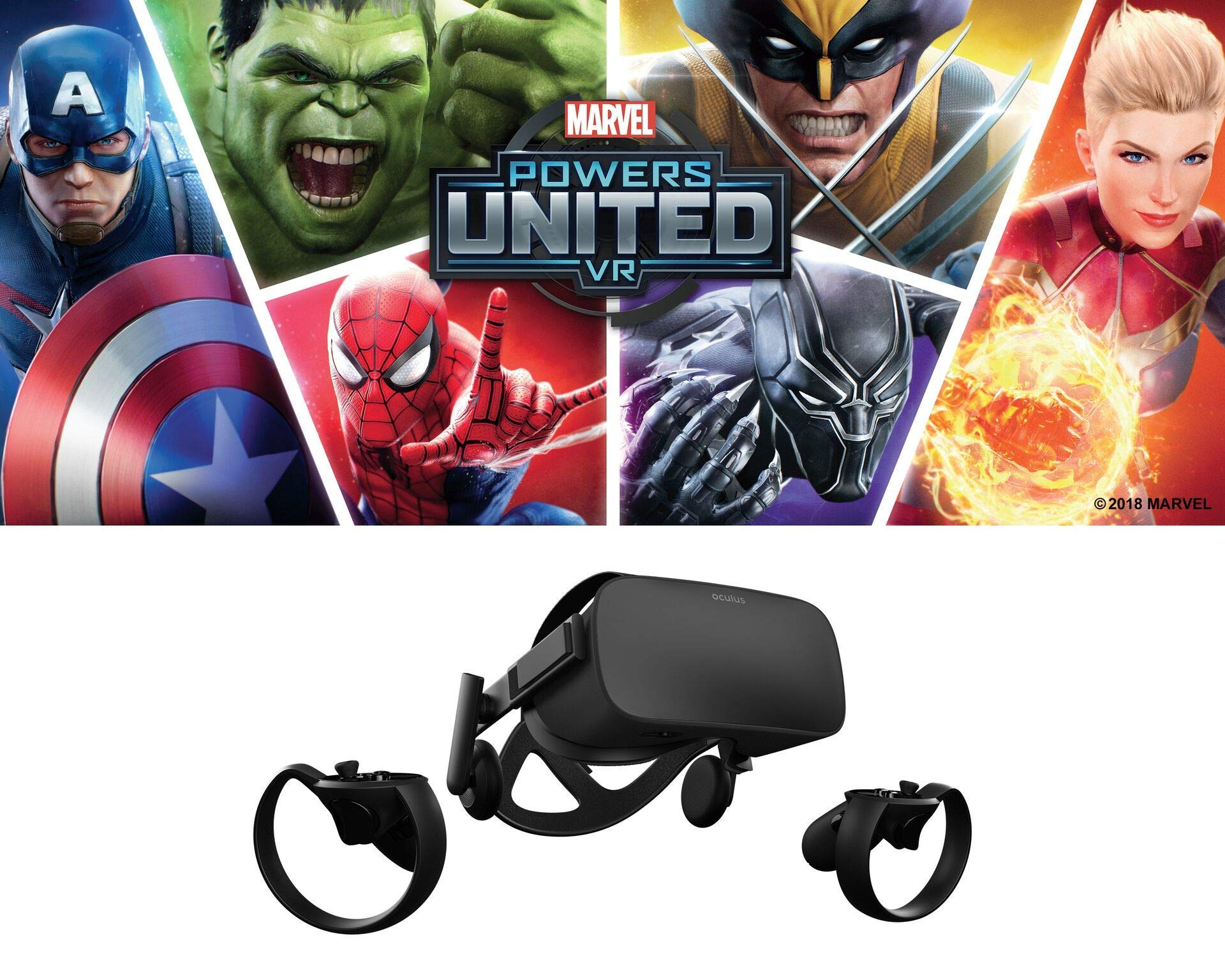 Oculus Marvel Powers United VR Special Edition Rift + Touch - PC (Limited Edition) (Renewed) by Oculus