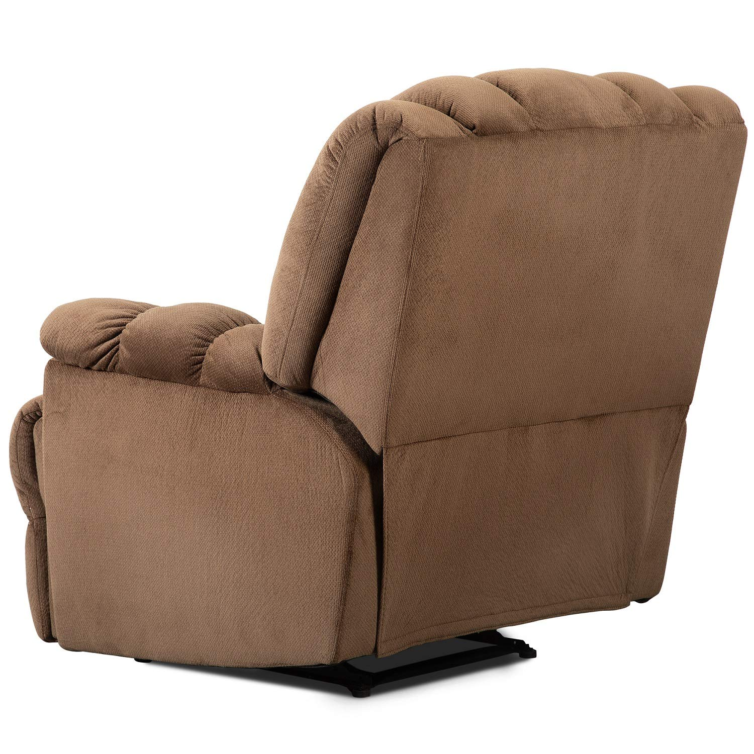 Strange Thick Padded Recliner Chair Fabric Living Room Chair Single Seat Lounge Sofa Reclining Natural Sand Cjindustries Chair Design For Home Cjindustriesco