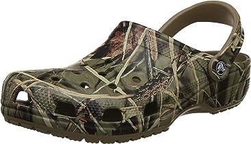 014b4081c1052 Crocs Men's and Women's Classic Realtree Clog | Comfort Slip On Camo Casual  Shoe | Lightweight