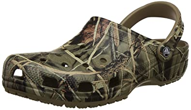 85a465db15cc6 Crocs Men's and Women's Classic Realtree Clog | Comfort Slip On Camo Casual  Shoe | Lightweight