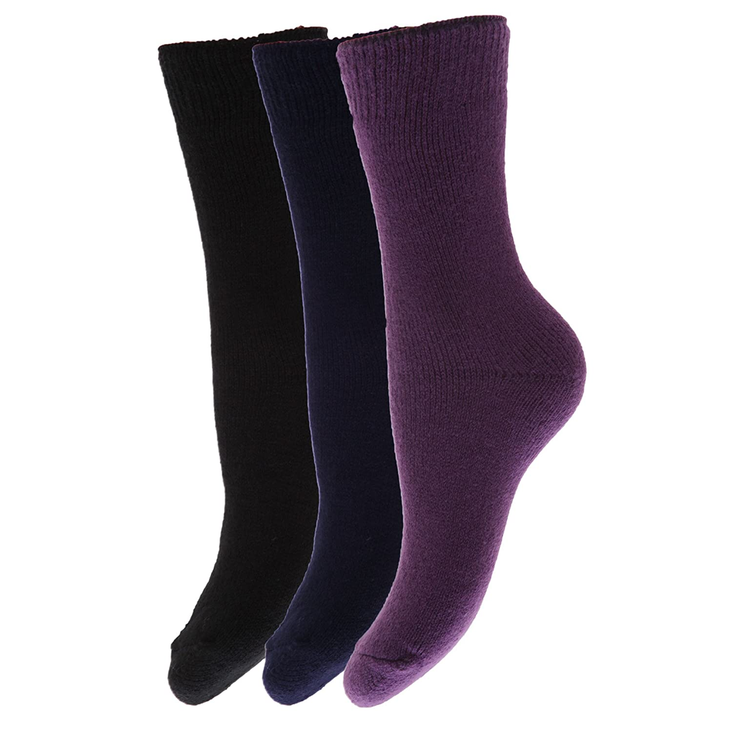 FLOSO® Kinder Winter Thermo Socken (3-er Pack)