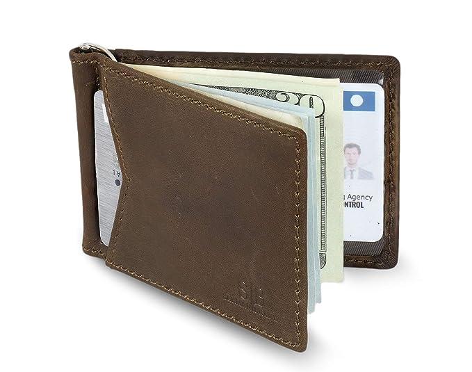 2722f5e52d956 SERMAN BRANDS - Credit Card Holder RFID Blocking Leather Slim Wallet ...