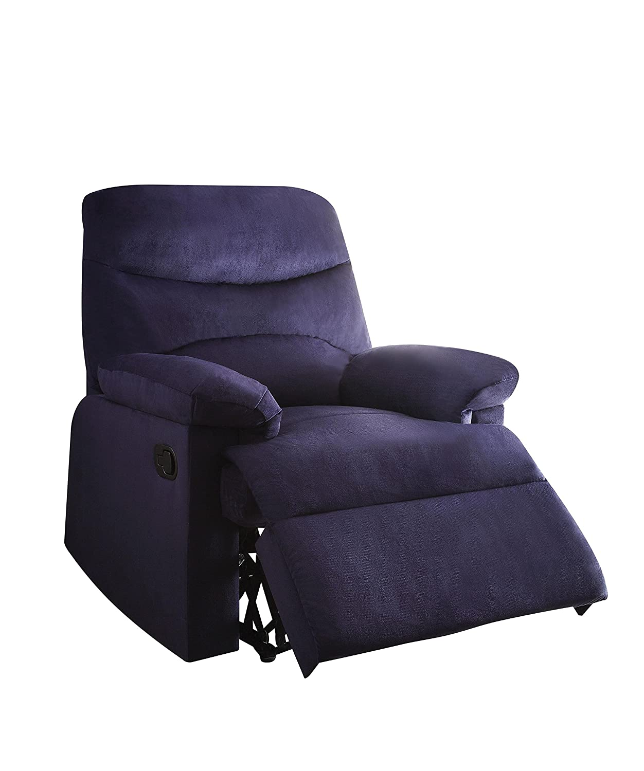 Amazon.com: Acme Furniture 00700 Arcadia Recliner, Blue Woven Fabric:  Kitchen & Dining