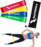 burnletics Fitnessbänder Set 4-Stärken - 4 Fitnessband Loops für Yoga Pilates Crossfit Muskelaufbau Physiotherapie