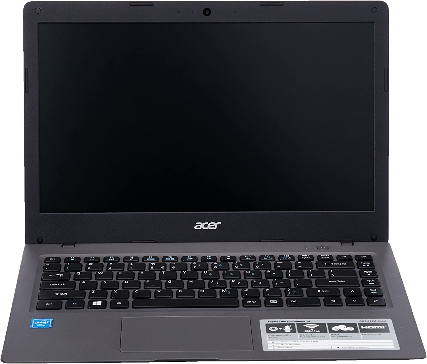 Acer Aspire One Cloudbook NX.SHJAA.002;AO1-431M-C49H Laptop (Windows 10 Pro 64, Intel Celeron N3050 / 1.6 GHz, 14