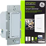 GE Enbrighten Z-Wave Plus Smart Light Dimmer, Works with Alexa, Google Assistant, 3-Way Compatible, ZWave Hub Required…