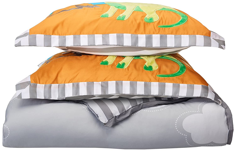 Mi Zone kids - Dinosaur Dreams Comforter Set - Grey,Blue & Green - Full/Queen - Dinosaur
