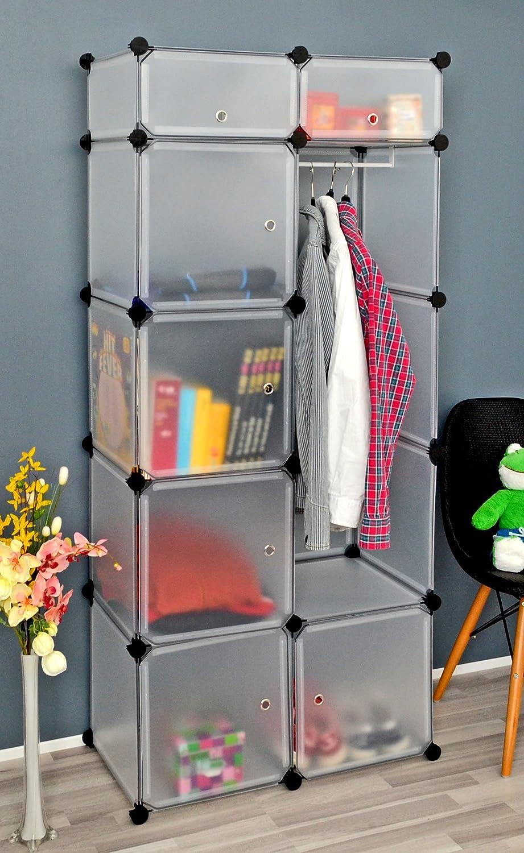 ts-ideen Kleiderschrank Garderoben Flur Schrank Badschrank W/äscheschrank Highboard Sideboard Regal in Wei/ß