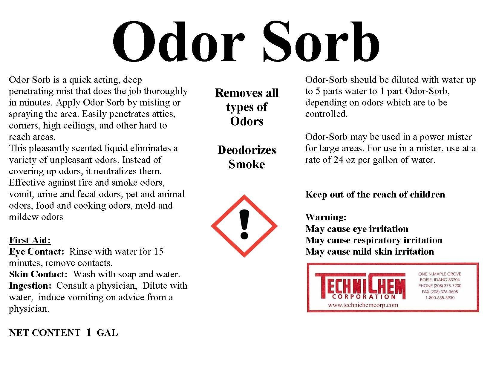 Technichem Corporation ODOR SORB Liquid Bulk Deodorant (1-6 Gallon Pail)