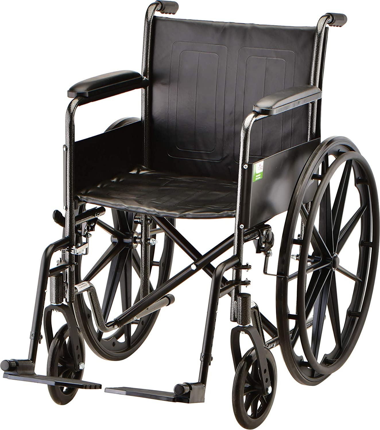 "B0016JDBZU NOVA 18"" Steel Wheelchair with Fixed Arms & Footrests 81Sx0ryKRuL"