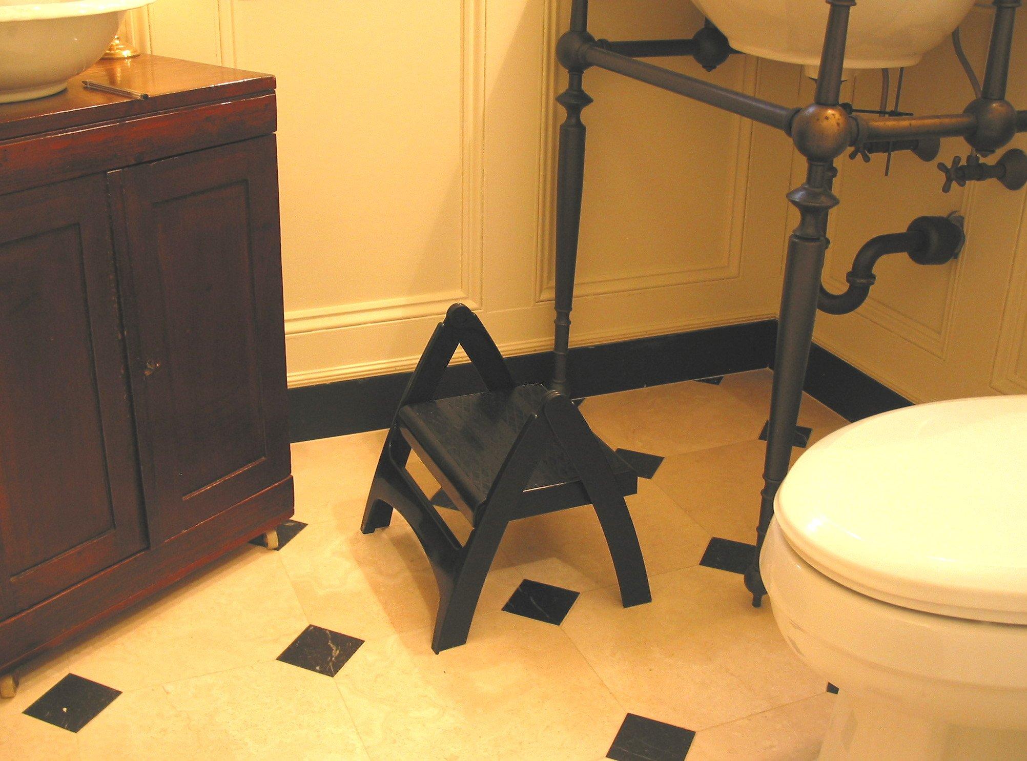 Adams Manufacturing 8530-02-3731 Quik-Fold Step Stool, Black