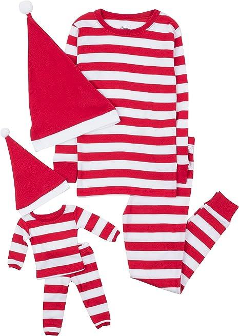 Leveret Kids /& Toddler Pajamas Matching Doll /& Girls Pajamas 100/% Cotton Set Toddler-14 Years Fits American Girl