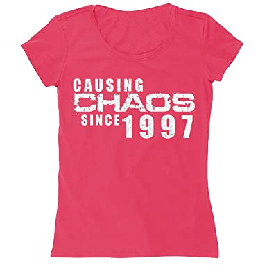 Chaos Was Seit 1994 21 Geburtstag Aufschrift Happy 21st Birthday Damen T Shirt Witziges Geschenk Amazonde Bekleidung