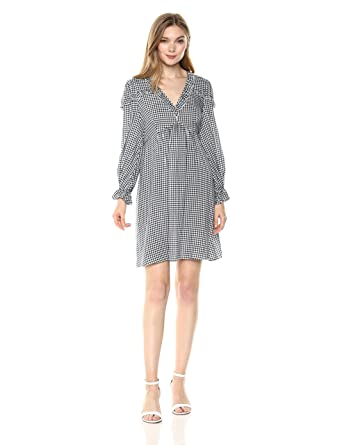 bf1c459cbd8e Amazon.com: Wild Meadow Women's Long Sleeve Empire Waist Ruffle Baby Doll  Dress: Clothing