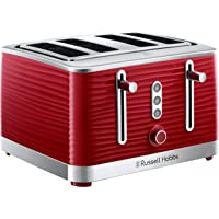 Russell Hobbs Inspire 4 Slice Toaster - Red