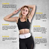 OWAYS Slimming Belt, Weight Loss Machine for Women, Adjustable Vibration Massage with Mild Heat, 4 Massage Modes, Belly Fat Burner, Promote Digestion, NOT Cordless