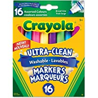 Crayola 16 Washable Broad Line Markers, Colossal, School and Craft Supplies, Drawing Gift for Boys and Girls, Kids, Teens Ages 5, 6,7, 8 and Up, Back to school, School supplies, Arts and Crafts,  Gifting