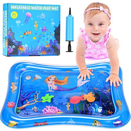 Water Play Mat for Infants /&Toddlers Fun Tummy Time Play Activity Baby Playmats