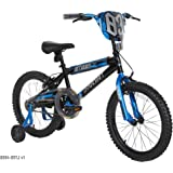 "Dynacraft Boys Nitrous Bike, Black/Blue, 18"", Black/Blue"