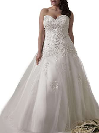 Weddingdazzle Applique Wedding Bridal Long Plus Size Wedding Dresses