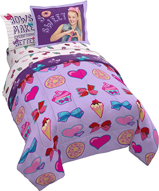 JoJo Siwa Bows Reversible Bedding Duvet Cover Set Cushion Bath Towel Blanket