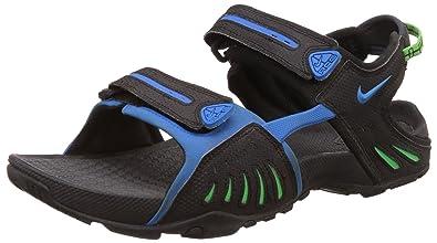 8211a91a592 Nike Men's Santiam 4 Black, Photo Blue, Poison Green Sandals and ...
