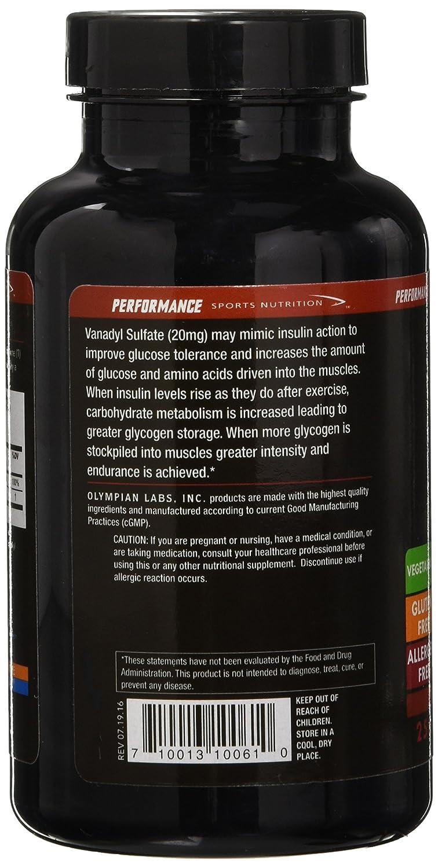 Olympian Lab Vanadyl Sulfate, 20mg Niacin Vitamin B-3 , 250-Count