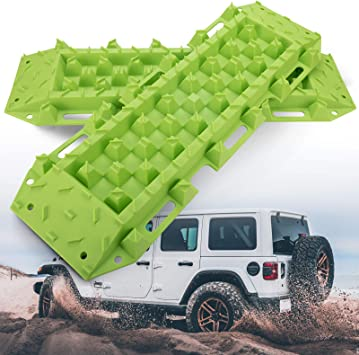 Sand Snow Traction Ladder-Blue Tire Traction Tool 2 Pcs Recovery Tracks Traction Mat for 4X4 Jeep Mud BUNKER INDUST Off-Road Traction Boards