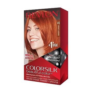 ColorSilk Beautiful Color #45 Bright Auburn Revlon 1 ...