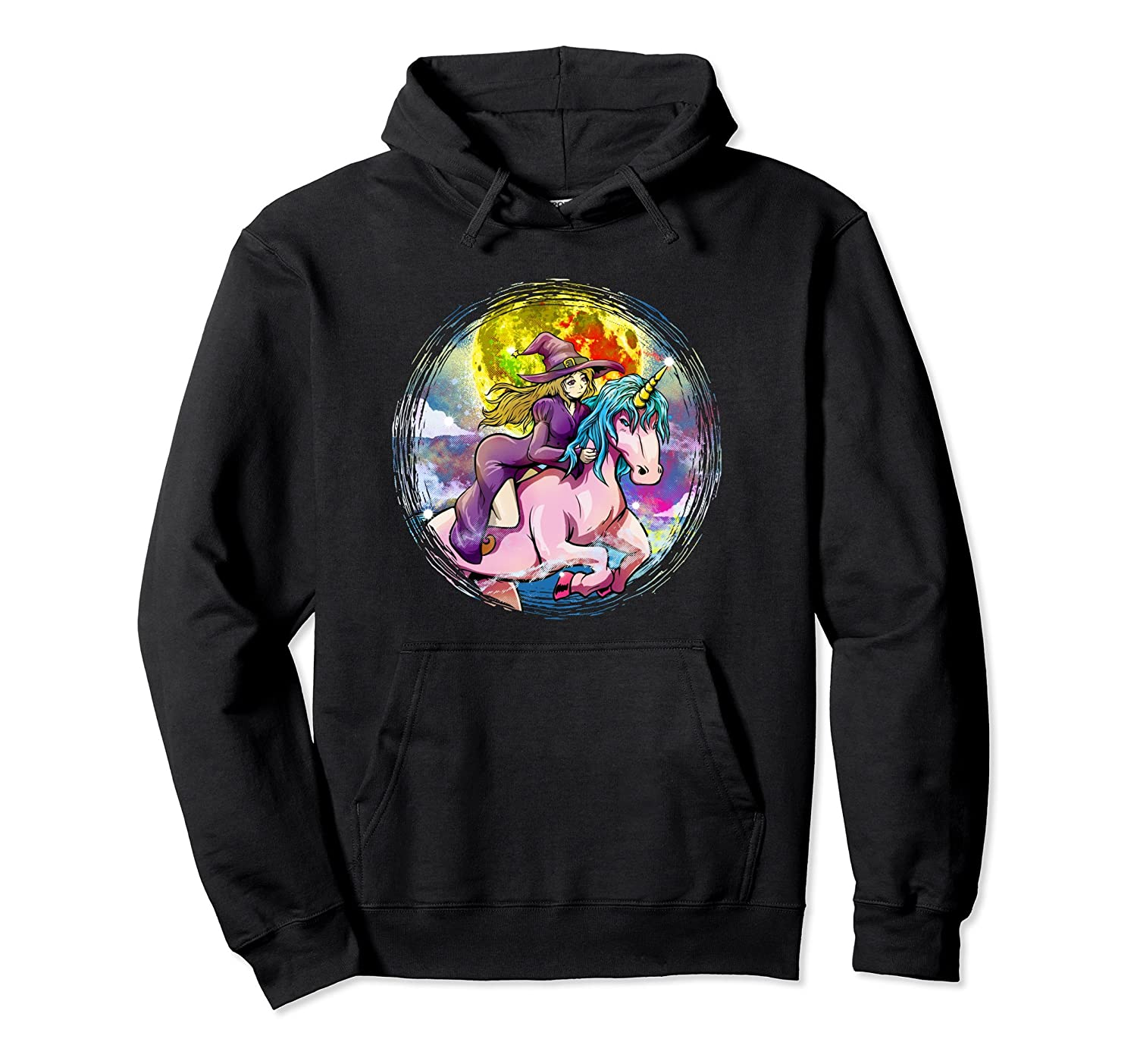 FUNNY HALLOWEEN HOODIE - Sexy Witch Unicorn Anime-mt