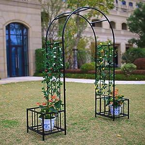 Better Garden Steel Garden Arch with Plant Baskets, 6'9