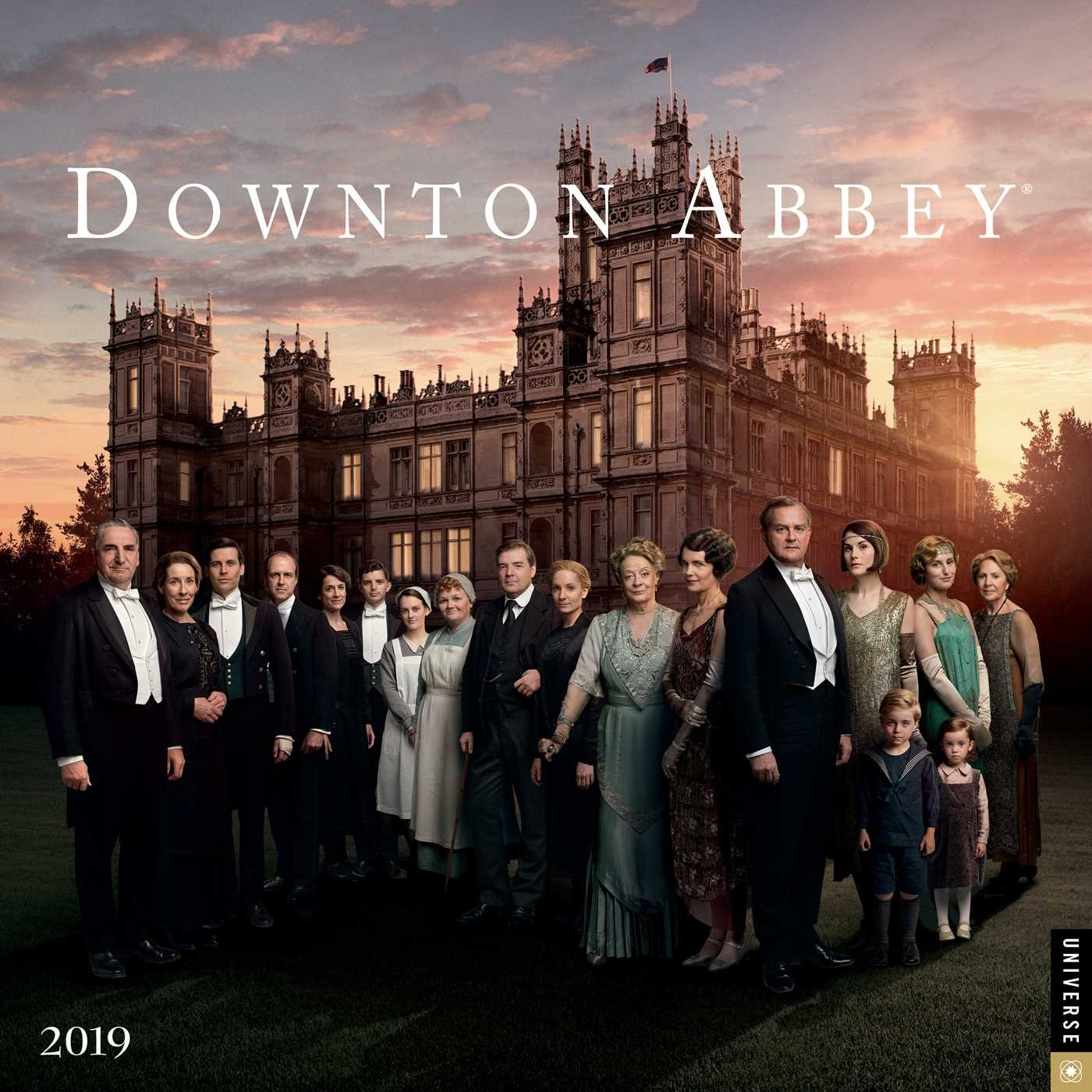 Downton Abbey 2019 Wall Calendar Nbc Universal 0676728034902 Amazon Com Books