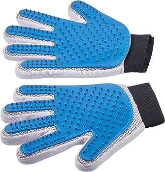 Pet Grooming Glove - Enhanced Five Finger Design