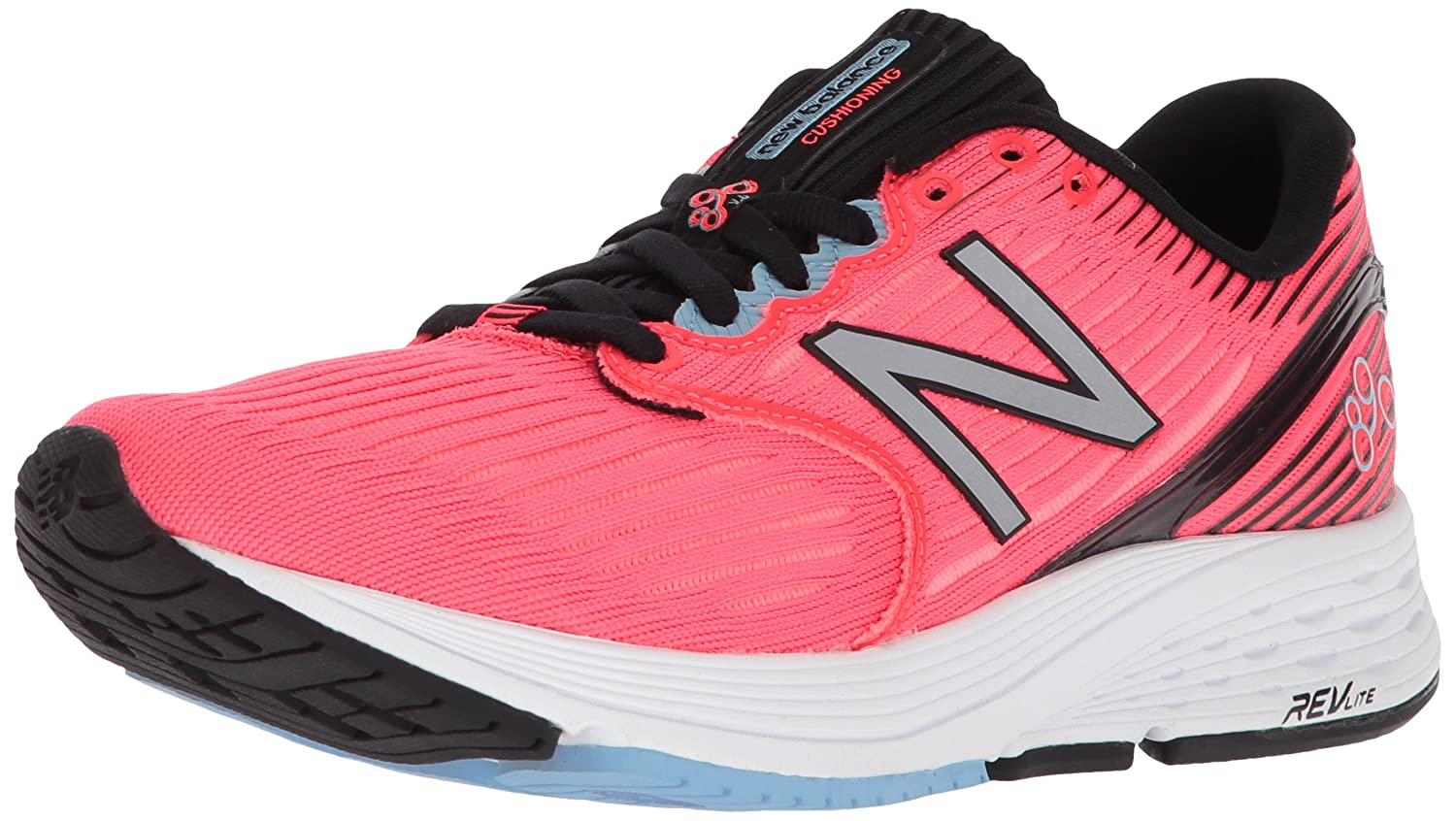 New Balance Women's 890v6 US|Vivid Running Shoe B06XSJ6CFK 5.5 B(M) US|Vivid 890v6 Coral/Black 546546