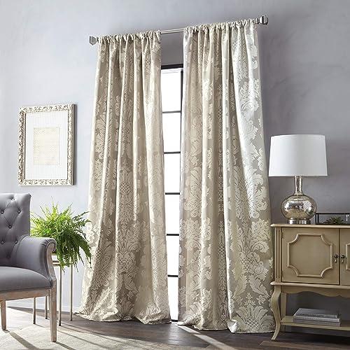 MARTHA STEWART Palermo Room Darkening Lined Rod Pocket Single Curtain Panel