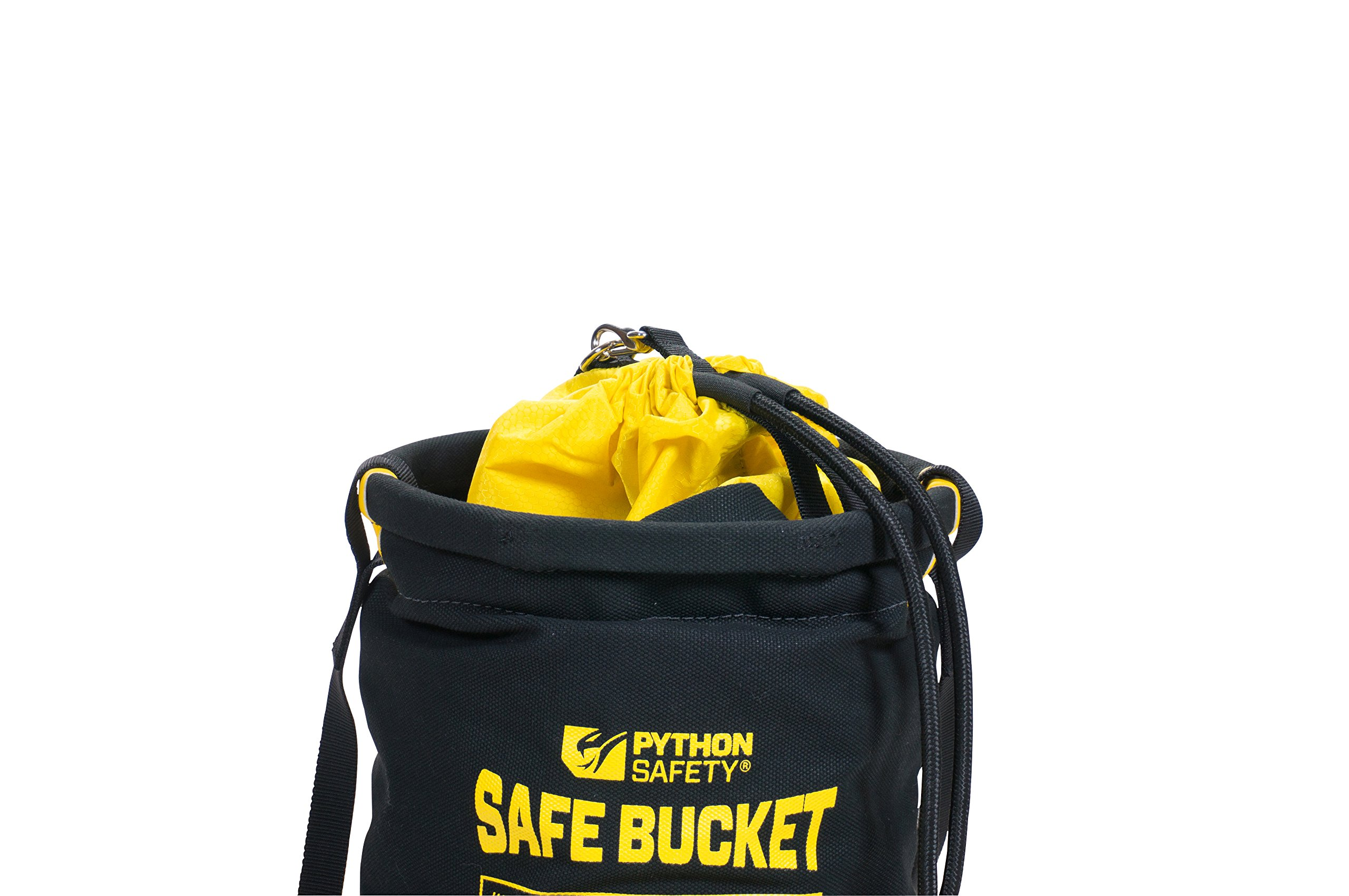 3M DBI-SALA Fall Protection For Tools,1500133, Canvas Spill Control Safe Bucket w/6 D-Ring Connection Points, 15''X125, Drawstring Closure System,100 lb Load Rating