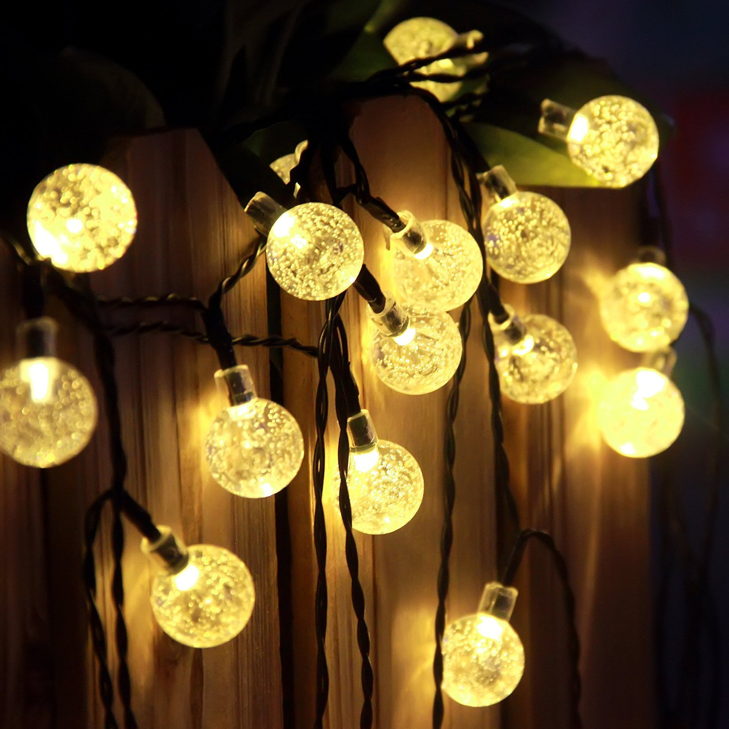 Amazon.com : Solar String Lights, 60LED 36FT Colorful Waterdrop Or Warm  White Bulb Shipped Randomly, Solar String Lights, Solar Lights Outdoor,  Solar Garden ...
