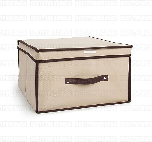 Caja de almacenamiento | Caja para almacenaje plegable | Organizador de ropa | Caja de tela guarda todo | Caja de almacenaje de gran capacidad (40x40): Amazon.es: Hogar