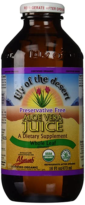 Lily Of The Desert Aloe Vera Juice Whole Leaf, 16 Fluid Ounce by Lily Of The Desert